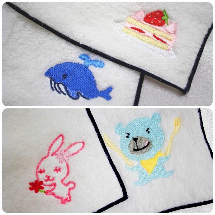動物・食べ物刺繍